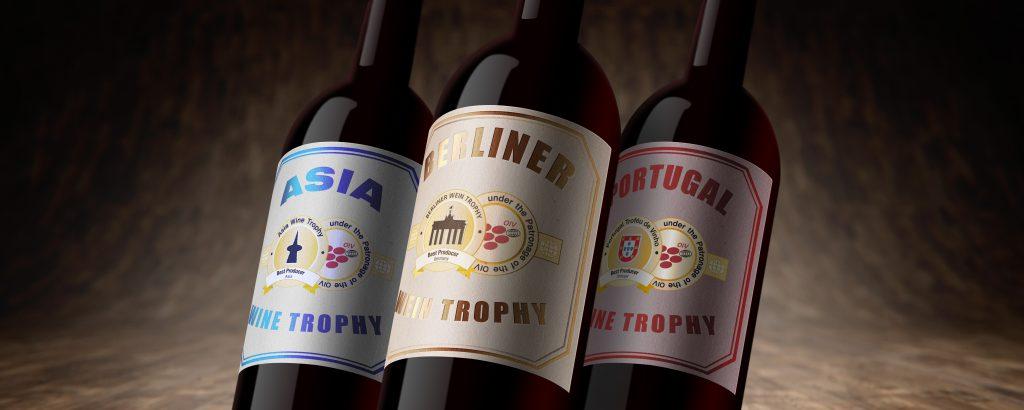 Deutsche Wein Marketing - 3 Wine Trophy Bottles