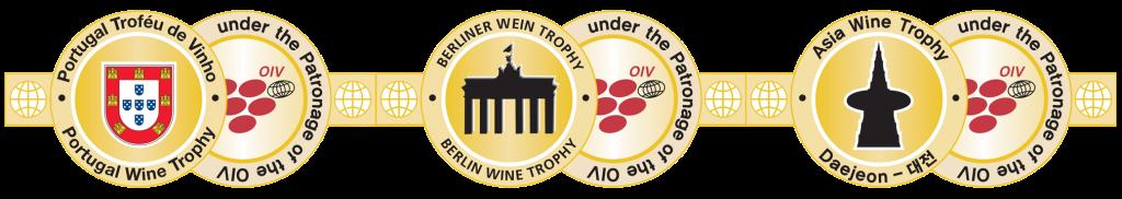 3 Wine Trophy Medals
