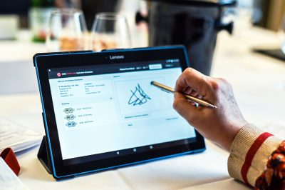 Tablet Wine Score System - Berliner Wine Trophy International Wine Challenge - Wine Tasting