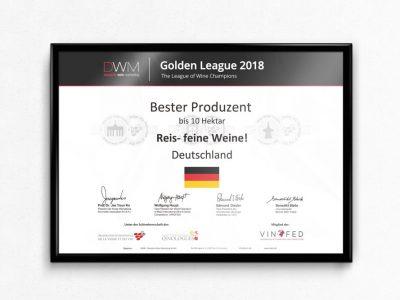 Wine Trophy - Golden League - League of Wine Champions
